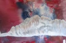 Enzo Gobbo, Magica Civetta, tecnica mista olio e smalti, 50x40, 2012