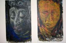Valeria Gubbati, Maya dittico, prima immagine, Sogno Maya, cm 60x100, seconda immagine, Realtà Maya, cm 60x100 acrilico su tela, 2008