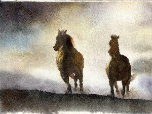 Carla-Lostuzzo-Insieme-al-tramonto-acquerello-22x31-cm-2012-quotazione-euro210