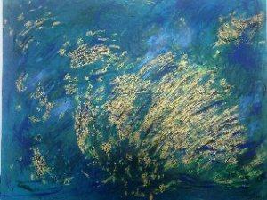 Simona Jachimecova, Under water world, acrylic on canvas, 112 x 142 cm, 2014