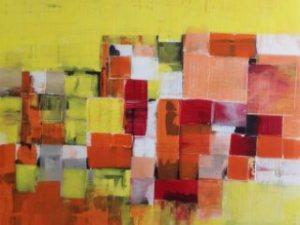 Stefano Carantini, Melting ideas, acrilico su tela, 100x100, 2014